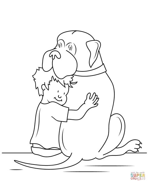 Henry And Mudge Coloring Pages henry and mudge coloring page free printable coloring pages