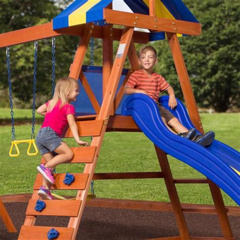 backyard discovery dayton dayton wooden swing set playsets backyard discovery