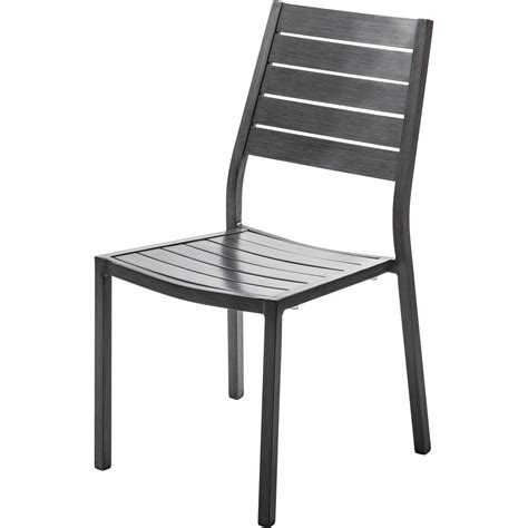 chaise de jardin en aluminium antibes argent leroy