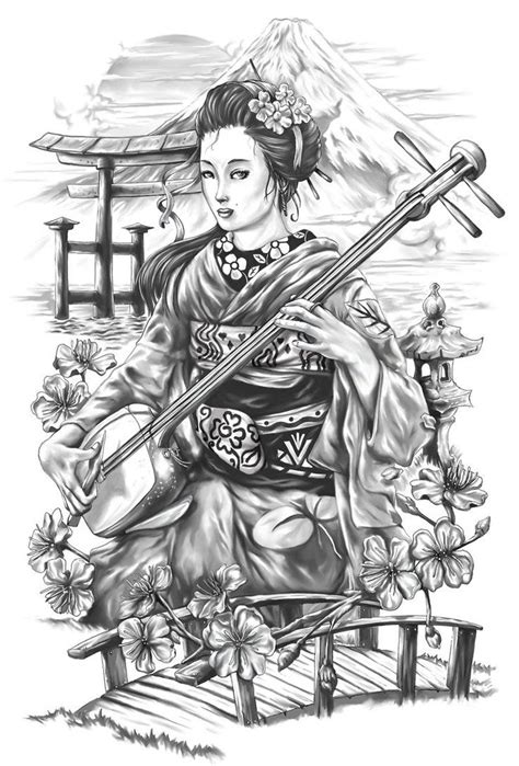 geisha warrior tattoo drawings 309 best images about tattoos on pinterest