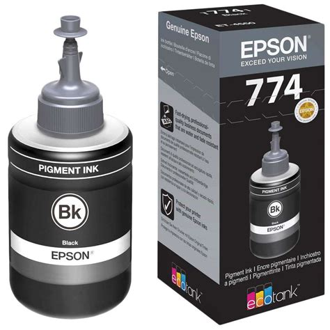 Tinta Epson 7741 Black Original epson t7741 ecotank 140ml pigment ink bottle black