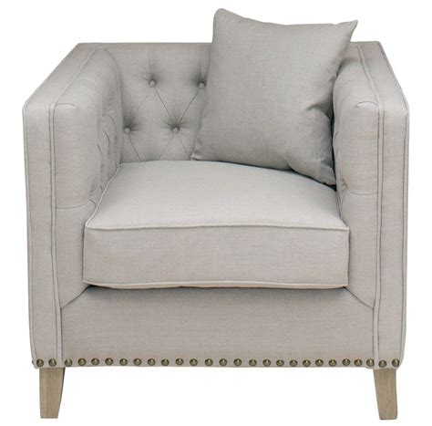 Sofas And Armchairs by Linen Button Back Armchair La Residence Interiors