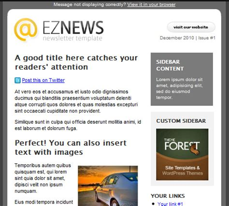 50 Email Templates To Enhance Your Newsletter S Appeal Naldz Graphics Free News Bulletin Templates