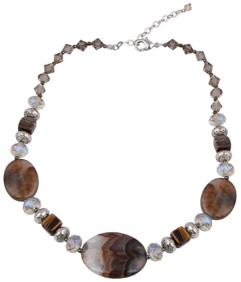 pearlz trendy brown beaded necklace buy pearlz