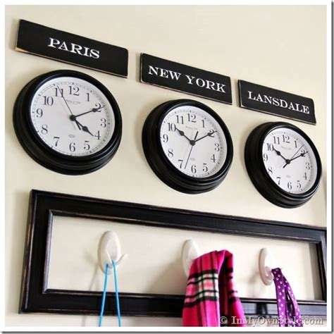 Escape With Command Key Wallclocks by Mudroom Organizing Wall Grand Central Station In My Own