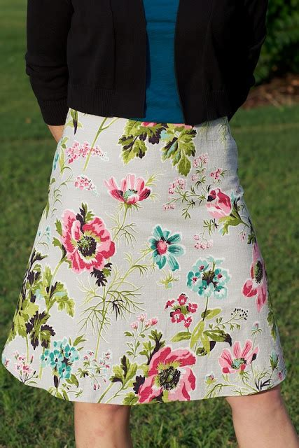 sew spoiled how to line an a line skirt tutorial