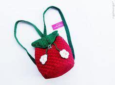 tutorial rajut ransel crochet strawberry strawberries and crochet on pinterest