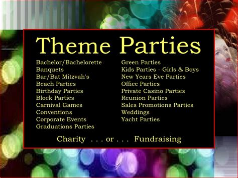 themed titles for events fundraising event names just b cause
