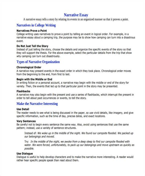 Exles Of Narrative Essays For College by How To Start A Narrative Essay Exles Madrat Co