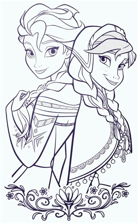 frozen coloring pages momjunction elsa and anna coloring sheets pinterest