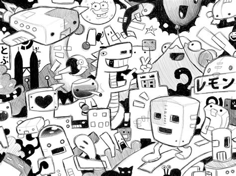 doodle drawing wallpaper cool doodle backgrounds