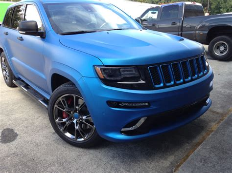 jeep srt matte black matte blue metallic jeep srt8 wrap wrapfolio