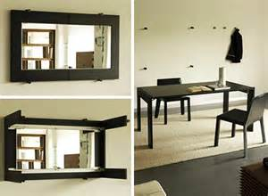 Folding Wall Dining Table Folding Dining Table Turns Into A Mirror By Porada
