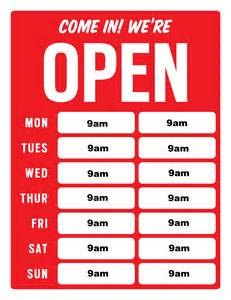 store hours template free 4 best images of business hour signs printable free