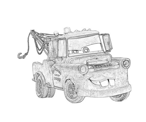 coloring pages of mater from cars tow mater coloring pages free coloring home