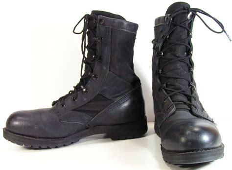 combat boot combat boots mens 9 d black steel toe work grunge