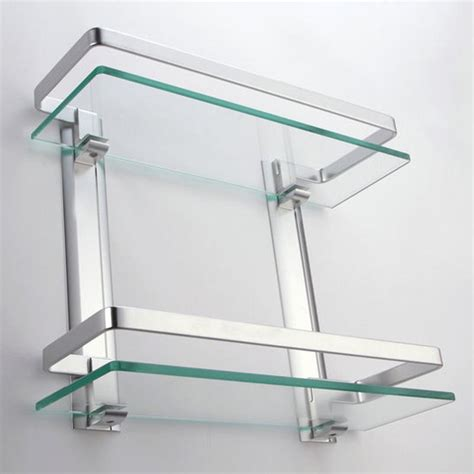 Small Glass Bathroom Shelves Two Small Bathroom Glass Small Bathroom Wall Shelves