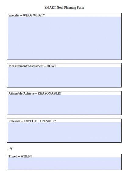Smart Goals Template Excel Calendar Monthly Printable Smart Goal Setting Template Excel