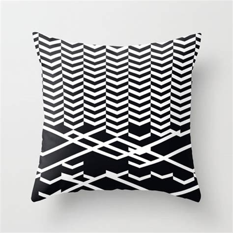 Black White Pillow by Fresh From The Dairy Black And White Patterns Design Milk