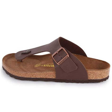 birkenstock ramses mens synthetic leather sandals brown