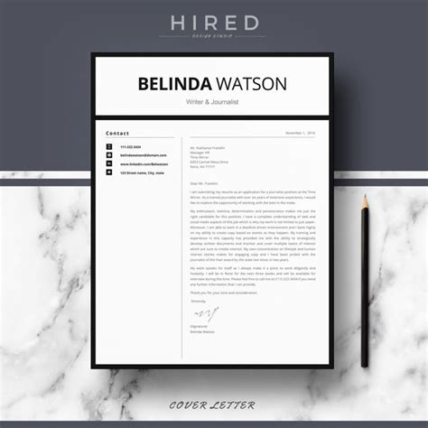 Professional Modern And Minimalist Resume Template For Ms Word Quot Belinda Quot Hired Design Studio Minimalist Resume Template Word Free