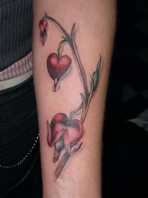 bleeding hearts tattoos vine tattoos