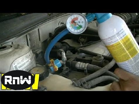 Adding Refrigerant To Car Ac - how to add freon to a car and manually engage ac