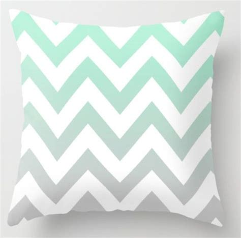 mint green chevron bedding a throw pillow for the bed white with mint green chevron fading into grey dorm