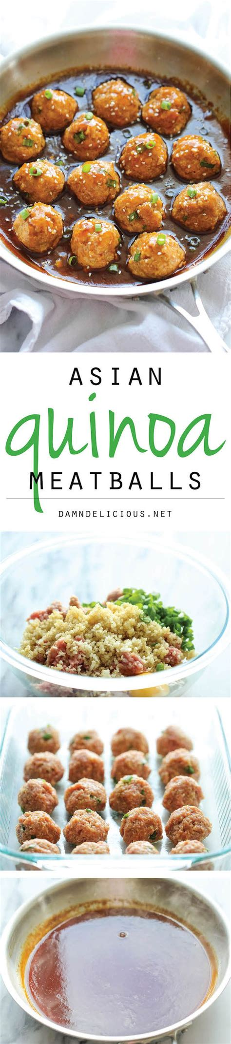 light and healthy dinners asian quinoa meatballs recipe