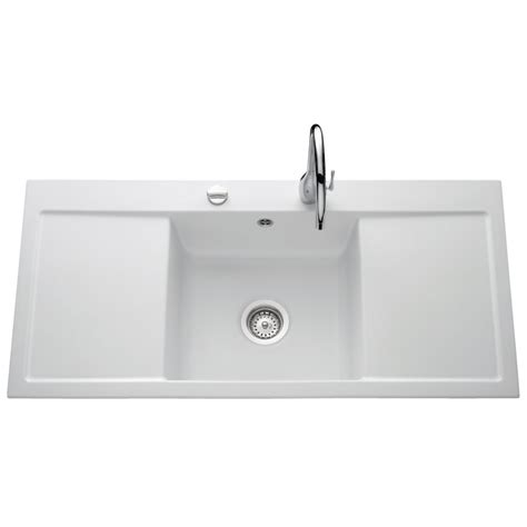 villeroy boch single bowl and drainer 1060mm