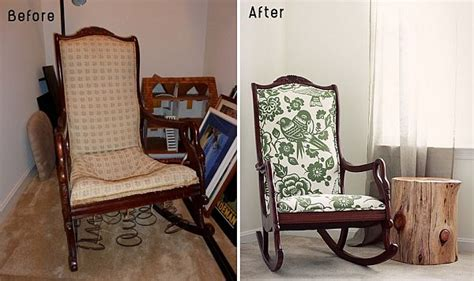 Ideas For Reupholster Furniture Design 28 Before After Reupholstered Chairs