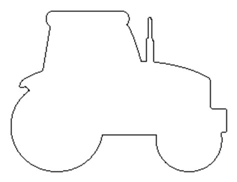 tractor template printable free shape and object patterns for crafts stencils and
