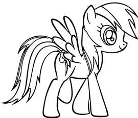 pony rainbow dash coloring free coloring pages art coloring pages