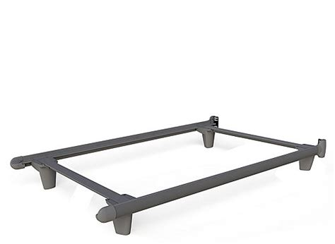 Embrace Twin Bed Frame W Glides Gray Gray Raymour Bed Frame Glides