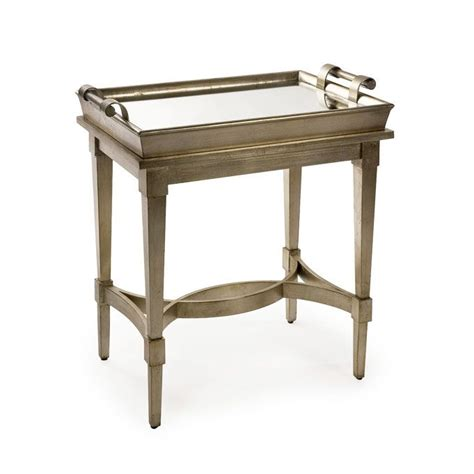 Mirrored Tray Table by Adele Mirrored Butler Tray Table