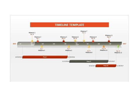 33 Free Timeline Templates Excel Power Point Word Free Templates For Timelines