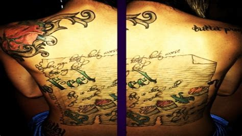 maci bookout back tattoo maci bookout breaks the meanings many