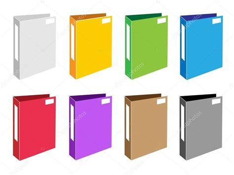 clipart ufficio set colorato illustrazione di ufficio cartella icone