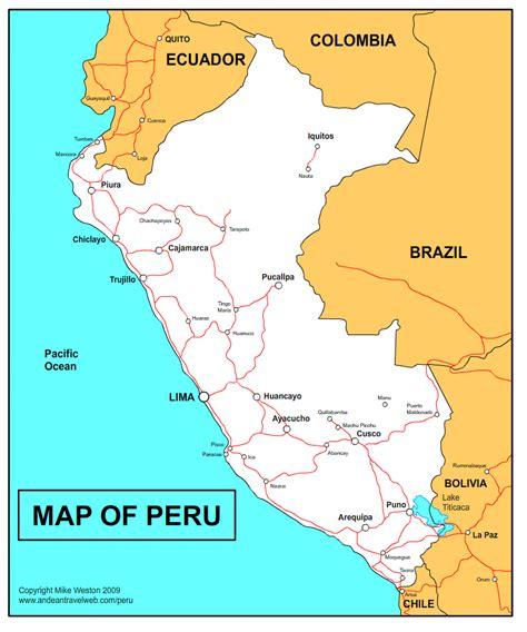 peru on the map peru map tourist attractions toursmaps