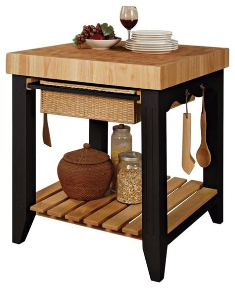 Powell Color Story Black Butcher Block Kitchen Island Powell Color Story Black Butcher Block Kitchen Island Modern Kitchen Islands And Kitchen