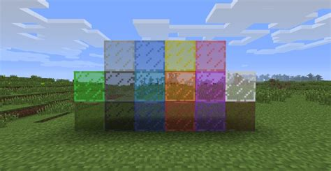 colored glass minecraft stained glass minecraft mod