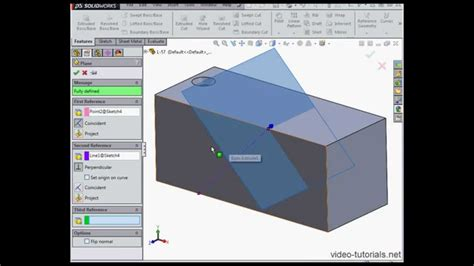 solidworks tutorial holes how to create a hole at an angle 2 solidworks tutorials