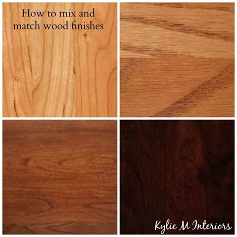how to mix and match wood stains like cherry, oak, maple