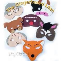 free printable gingerbread man masks little red hen role play masks sb2015 sparklebox