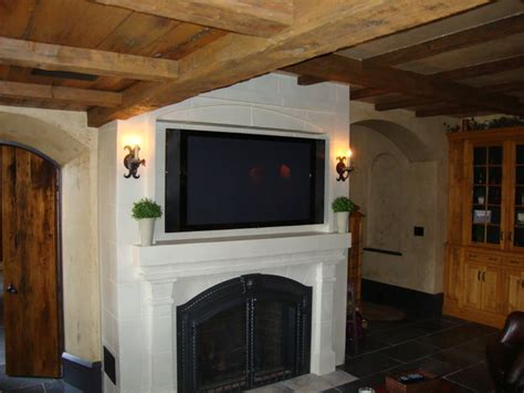 flat panel tv fireplace
