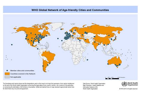 global cities world map about the global network for age friendly cities and