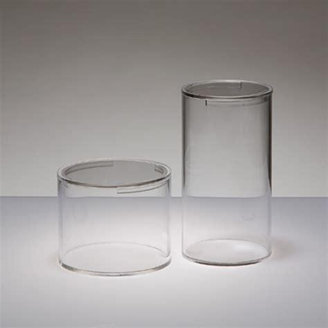 vasi in plexiglass tubi in plexiglass trasparente con coperchio oggettistica