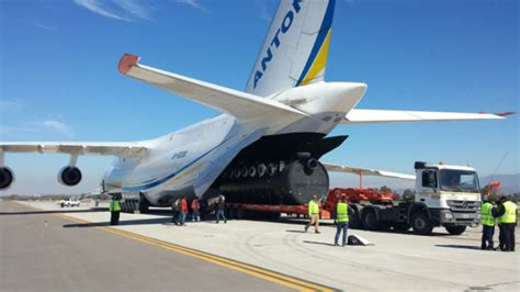 antonov airlines transports mining equipment across the andes air cargo week