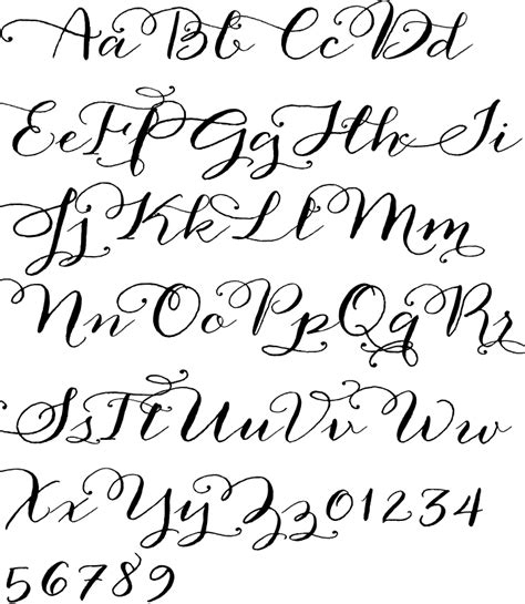 printable calligraphy letters anna clara calligraphy font paper goods pinterest