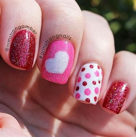 valentines day nail designs simply and sweet nail arts for valentines day